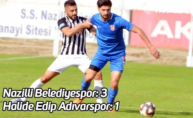TFF 3. Lig 3. Grup; Nazilli Belediyespor 3- Halide Edip Adıvarspor-1