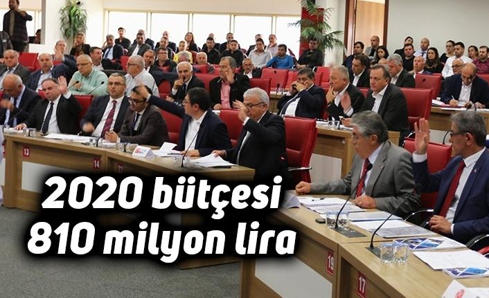2020 bütçesi 810 milyon lira