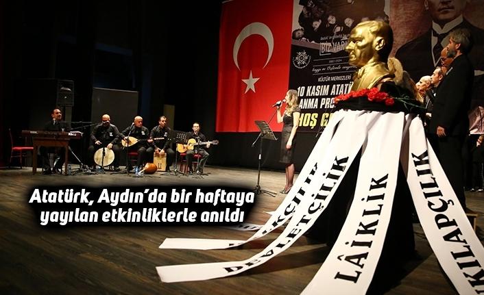 Atatürk, Aydın'da bir haftaya yayılan etkinliklerle anıldı