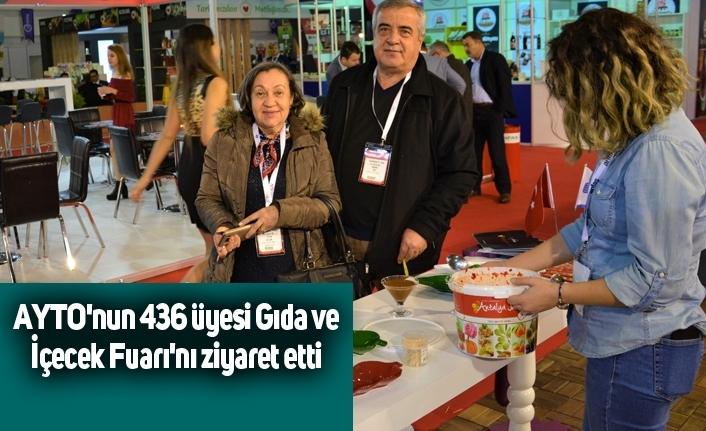 AYTO'nun 436 üyesi Gıda ve İçecek Fuarı'nı ziyaret etti