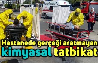 Hastanede gerçeği aratmayan kimyasal tatbikat